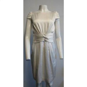 CAROLINA HERRERA Ivory silk sheath dress SZ 8